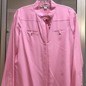 Diane von Furstenberg Pink Button Down Top